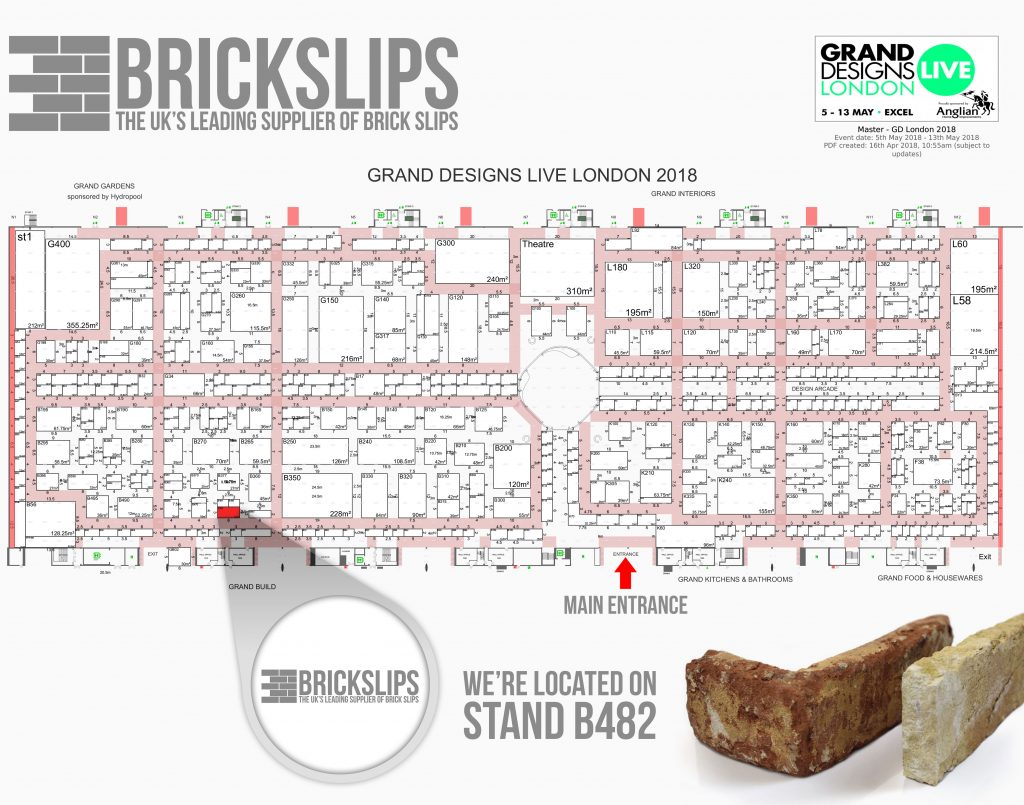 Brick Slips at Grand Designs 2018 Floor Plan - Large